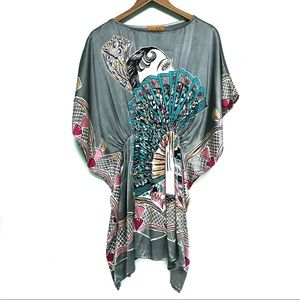 💎HOST PICK VOOM by Joy Han 100% Silk Kaftan Tunic